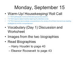 Lesson Plans Week 3 M. Unser English Grade 7 Plus September 15-19 ...