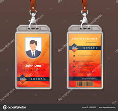 Badge Office Id Card Corporate Identity Employee Access Badge Design