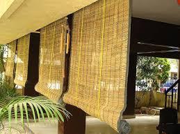 bamboo matchstick semi see through out door lapa blinds