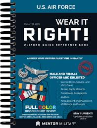 Wear It Right Air Force Uniform Book Computer Admin