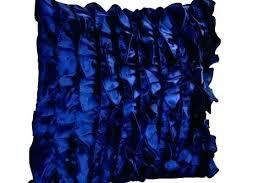 navy blue throw pillows satin ruffle pillow decorative dark for couch area rug 10 x 12