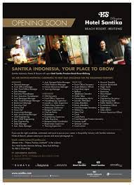 Recruitment And Careers Santika Indonesia Hotels And Resorts