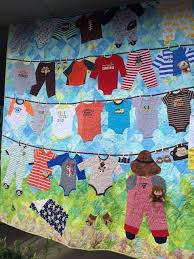 Quilt showcasing old baby clothes. Humble Quilts: Sisters Quilt ... & Quilt showcasing old baby clothes. Humble Quilts: Sisters Quilt Show Adamdwight.com