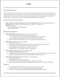 Resume Formatting Delectable Resume Formatting Software Impressive Entry Level Engineer Sample