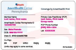 Cards Id Caritas - Amerihealth Pa