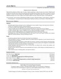 Examples Of Administrative Resumes Interesting Example Of Administrative Assistant Resume Office Assistant Resume