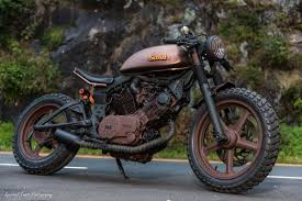 industrial moto custom cafe racer tracker motorcycle project scout
