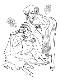 Small Picture sailor moon coloring pages to print pretty sailor in a coloring