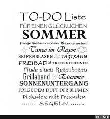 To Do Liste Für Einen Glücklichen Sommer Lustige Bilder Sprüche