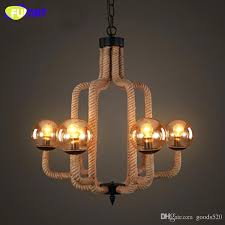 rope chandelier vintage rope chandelier lighting fixture country living room lamps retro art suspension lights chandeliers modern living room bedroom led