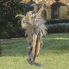 design toscano rhiannon the archer fairy 48 5 in garden statue