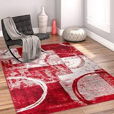 cool area rugs. Dreamy Shapes \u0026 Circles Red Modern Geometric Boxes 8 X 10 (7\u002710\ Cool Area Rugs