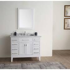 42 white vanity. Plain Vanity Danny White 42inch Single Bathroom Vanity Set In 42 Overstockcom