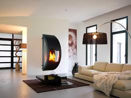 stupefying contemporary standing fireplace