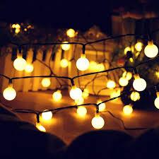 Battery Powered Outdoor Globe Lights Amazon Com Wddh Led String Lights Warm White Globe Lights