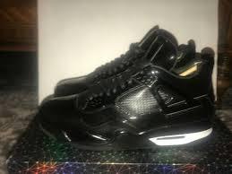 nike jordan retro iv 11lab4 black patent leather men s size 11 ds