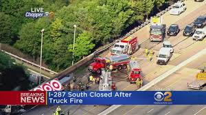 Truck Fire Closes I-287 South - YouTube