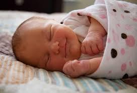 Smiling Baby Sleeping