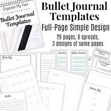 Journal Templates Bullet Journal Templates Full Page Undated