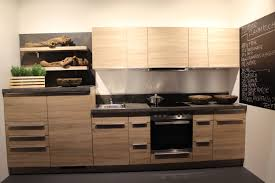 Modern Kitchen Wall Cabinets Modern Kitchen With Electric Stove And Hidden Chimney Extractor In