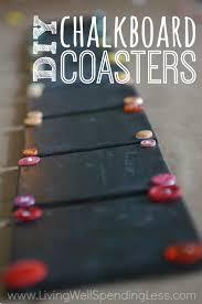 diy chalkboard coaster set how to make chalkboard coasters easy diy monogram chalkboard paint