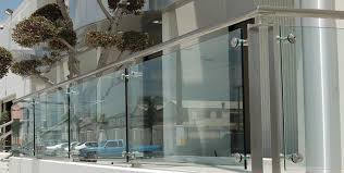 image of glass railing systems install