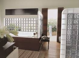 pittsburgh glass block separates a shower ptrreglassblock3051015