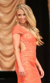Katherine Sizemore competes in the evening gown competition ...