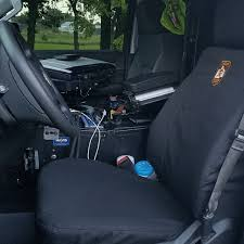 chevy tahoe with black tigertough tactical police specific seat covers
