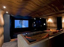 diy home theater room design with unique ceiling decorating ideas