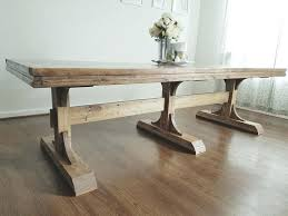 mission style trestle dining table plans. stunning trestle dining table diy style plans pedestal mission e