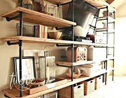 Iron Pipe Shelving Industrial Pipe Shelves Use Your Imagination To Come Up  With Any Configuration There