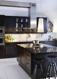 Kitchen Design Dark Cabinets Modern Kitchen Design Dark Cabinets White Subway Tile Backsplash
