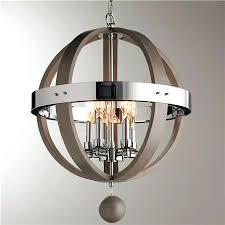 chrome orb chandelier wood and barrel sphere barrels shades of light large