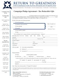 Fundraiser Pledge Form Template Outstanding Pledge Formplate Church Card Best Professionalplates