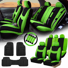 green car floor mats. FH Group Green Black Car Seat Covers For Auto W/Steering Cover/Belt Pads Green Car Floor Mats E
