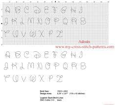 Disney Font Disney Font Cross Stitch Alphabet With Back Stitch Each