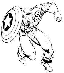 Captain America Coloring Picture Utibaamericascom