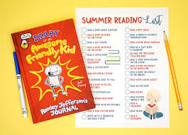 Summer Book Reading Chart Printable Summer Reading Challenge List For Kids Happiness