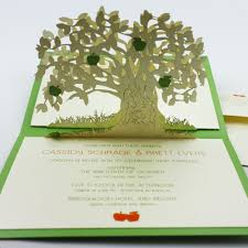 Wedding Invitations With Tree Designs