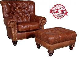 fargo whiskey leather chair ottoman 9310l40
