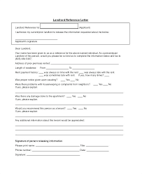 Letter For References Reference Letter From Landlord Landlord Reference Letter References