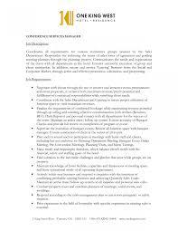 Catering Job Description Resume Catering Server Job Description Sample Resume For Banquet Sales 19