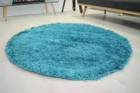 teal circle rug