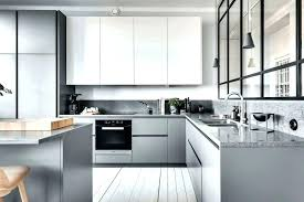 grey color kitchen cabinets simple natural wooden counter round black leather behr gray paint colors for