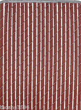 chain link fence slats brown. Item 3 PATRICIAN 4 Ft High Redwood Chain-Link Fence Privacy Slat Insert Cover 10 Feet -PATRICIAN Chain Link Slats Brown