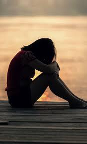 Sad Crying Girl Silhouette - 1280x2120 ...