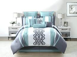 mint and gray bedding set with white duvet cover sham pillow green chevron gree