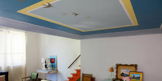 how to paint a decorative pattern on a ceiling