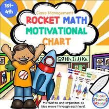 Rocket Math Chart Math Fact Motivational Program Rocket Math Rocks